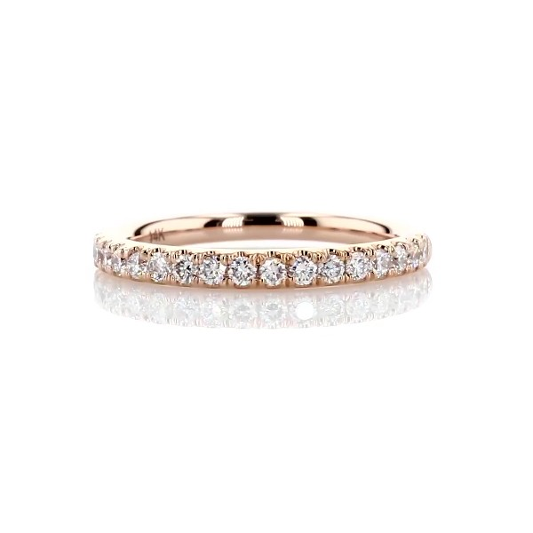 Riviera Pavé Diamond Ring in 14k Rose Gold (1/4 ct. tw.)
