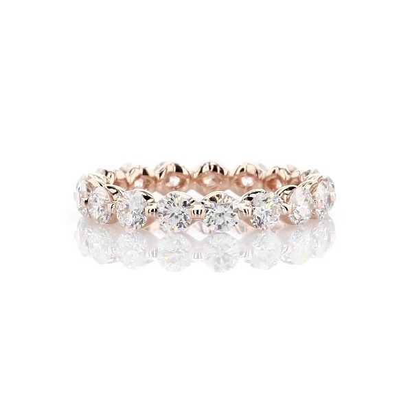 Floating Diamond Eternity Ring in 14k Rose Gold - I/SI2  (2 ct. tw.)