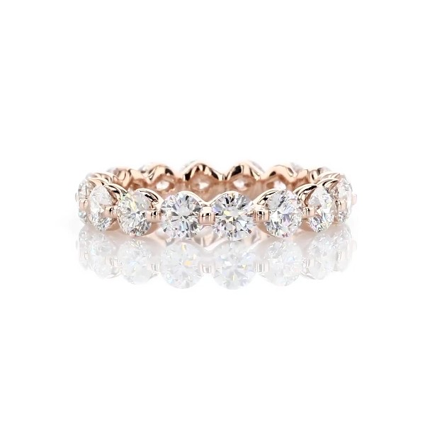 Floating Diamond Eternity Ring in 14k Rose Gold - I/SI2  (3 ct. tw.)