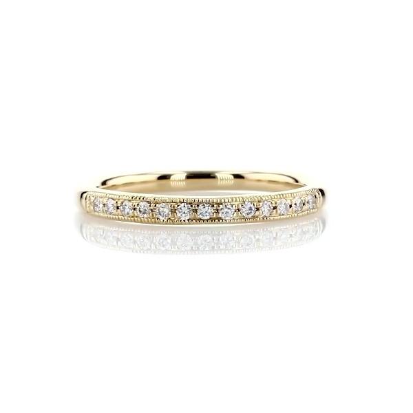 14k 金小巧锯状钻石戒指