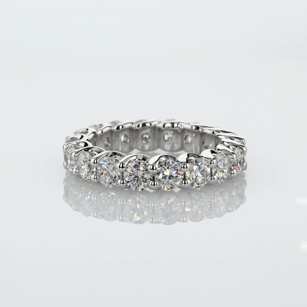 Ribbon Profile Diamond Eternity Band in 18k White Gold (2.89 ct. tw.)