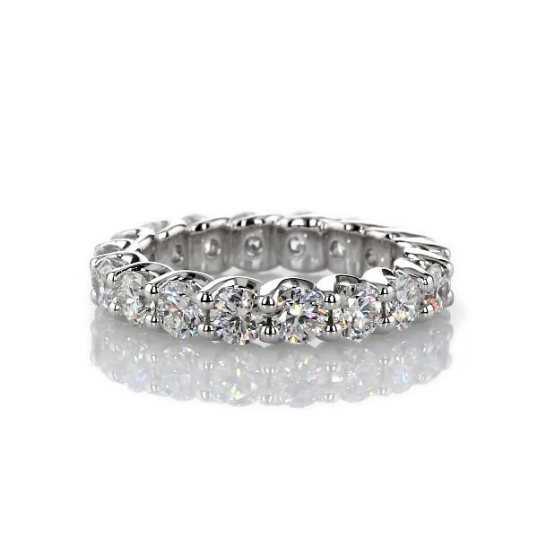 Ribbon Profile Diamond Eternity Band in 18k White Gold- H/SI2 (3 ct. tw.)