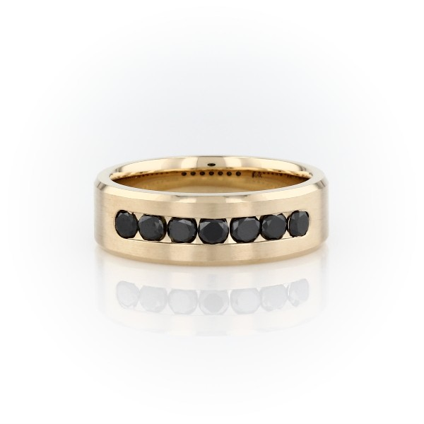 Channel-Set Black Diamond Ring in 14k Yellow Gold (3/4 ct. tw.)