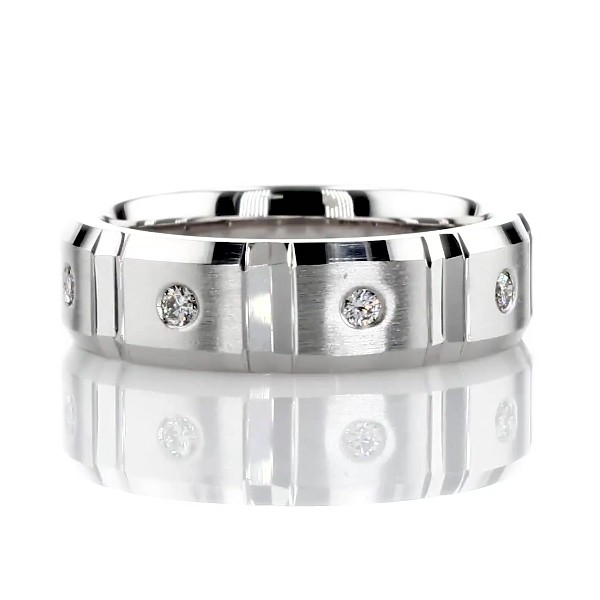 Link Diamond Eternity Band in 14k White Gold (1/4 ct. tw.)