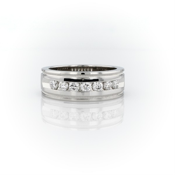 Milgrain Channel Set Diamond Wedding Ring in Platinum (1/2 ct. tw.)