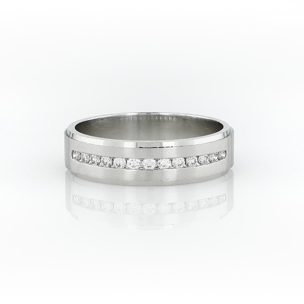 Diamond Channel-Set Wedding Ring in Platinum (1/3 ct. tw.)