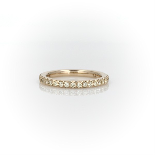 French Pavé Yellow Diamond Ring in 14k Yellow Gold (1/3 ct. tw.)