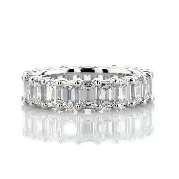 Classic Emerald-Cut Diamond Eternity Ring in Platinum (5 1/2 ct. tw.)
