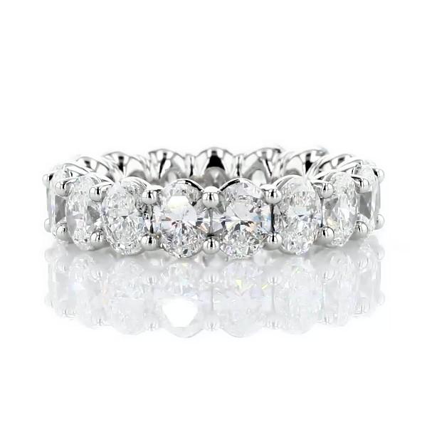 Classic Oval-Cut Diamond Eternity Ring in Platinum (5 1/2 ct. tw.)