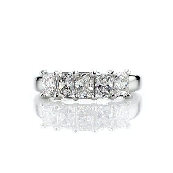 Five Stone Radiant Cut Diamond Ring in Platinum - G/SI1 (1.45 ct. tw.)