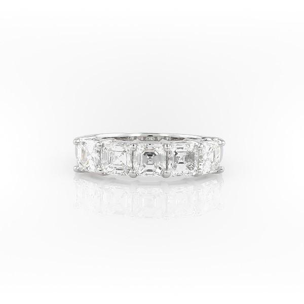Bague à cinq diamants taille Asscher classique en platine (2carats, poids total)