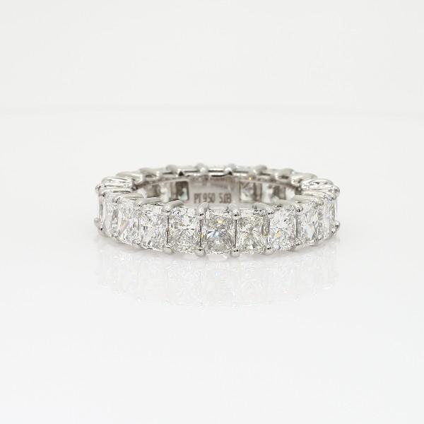 Radiant Cut Diamond Eternity Ring in Platinum (5 ct. tw.)