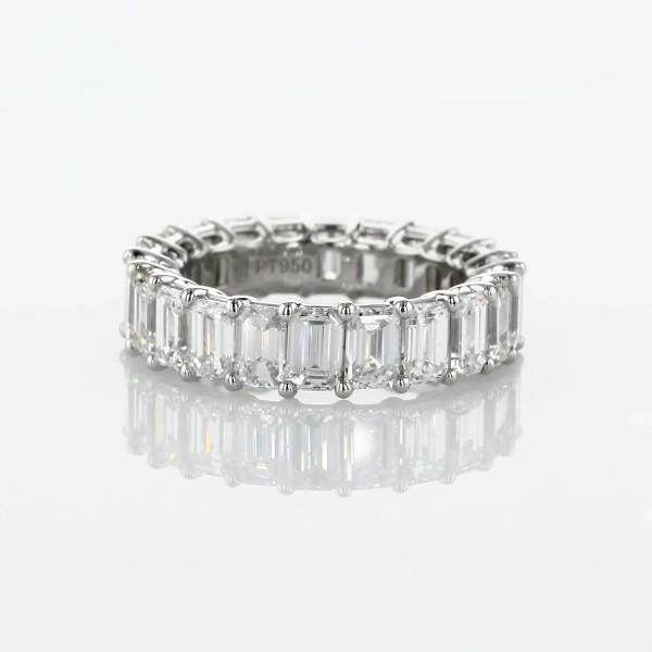 Emerald Cut Diamond Eternity Ring in Platinum- G/VS2 (5.5 ct. tw.)