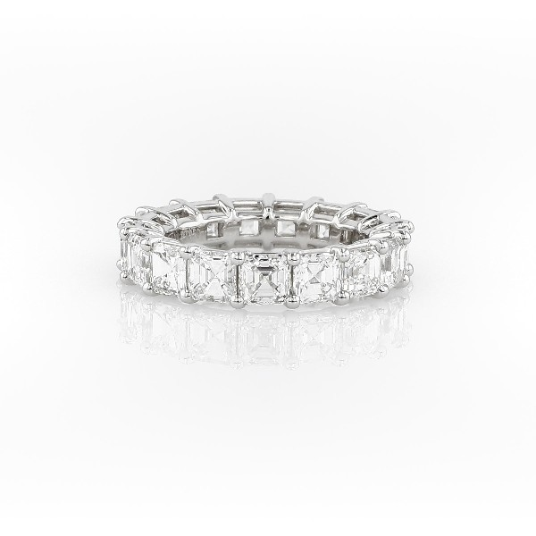 Asscher Cut Diamond Eternity Ring in Platinum (5.0 ct. tw.)