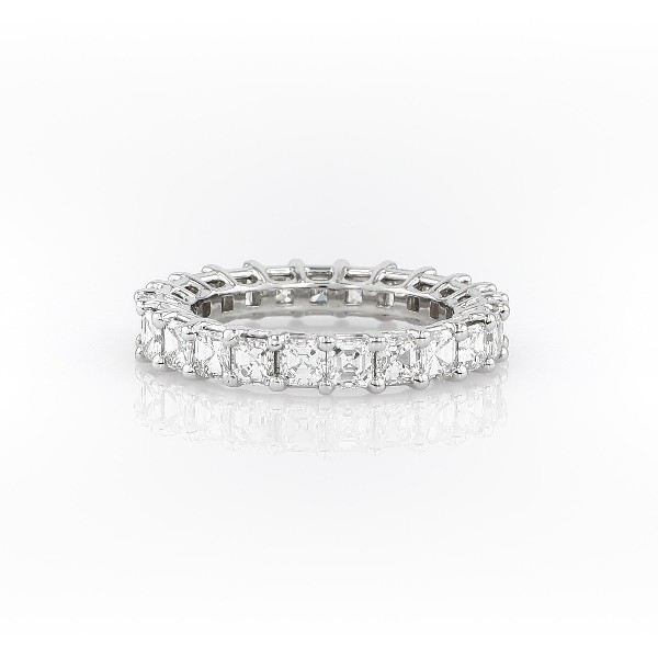 Asscher Cut Diamond Eternity Ring in Platinum (3.0 ct. tw.)