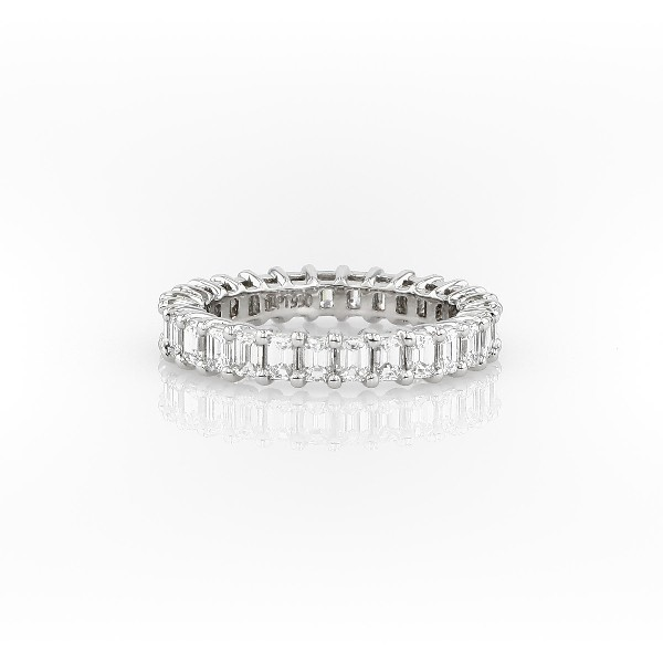 Emerald Cut Diamond Eternity Ring in Platinum (2.0 ct. tw.)