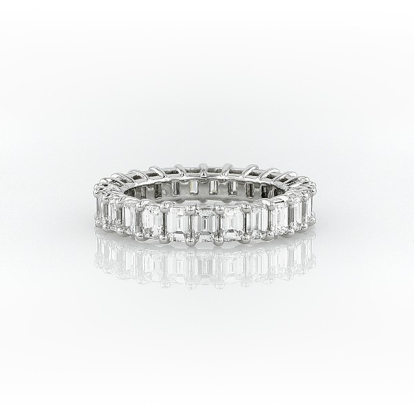Emerald Cut Diamond Eternity Ring in Platinum (3.0 ct. tw.)