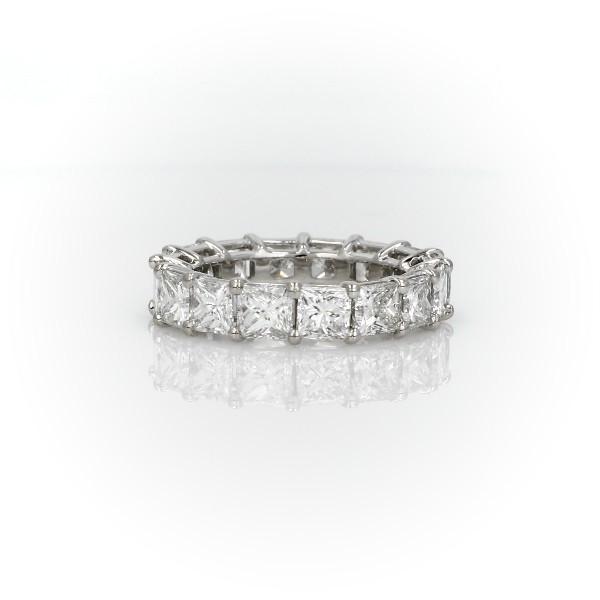 Princess Cut Diamond Eternity Ring in Platinum (5.5 ct. tw.)