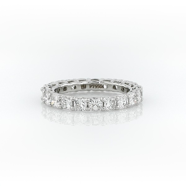 Cushion Cut Diamond Eternity Ring in Platinum (3.0 ct. tw.)