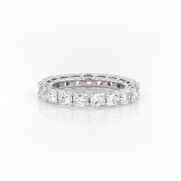 Cushion Cut Diamond Eternity Ring in Platinum (4.0 ct. tw.)