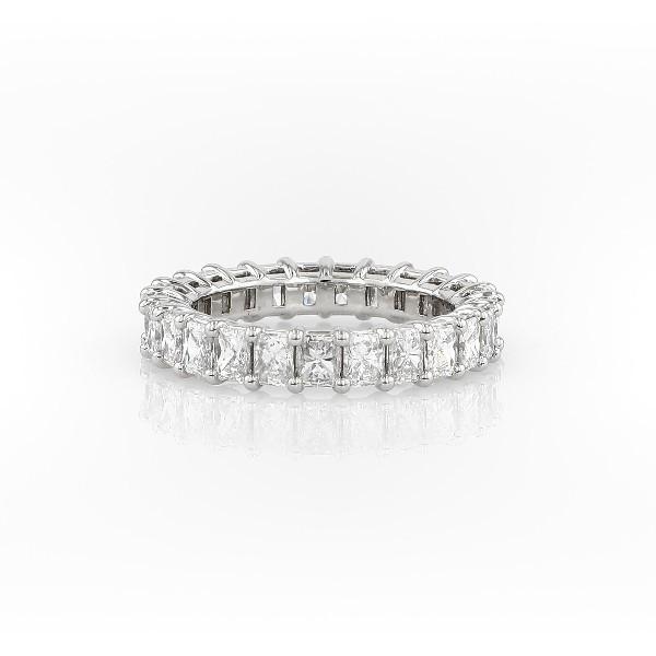 铂金雷地恩明亮式钻石永恒戒指<br>(3.0 克拉总重量)
