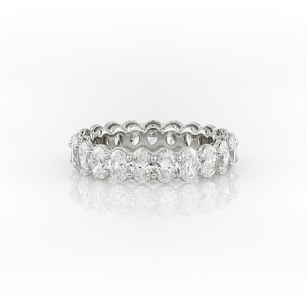 Oval Cut Diamond Eternity Ring in Platinum (4.0 ct. tw.)