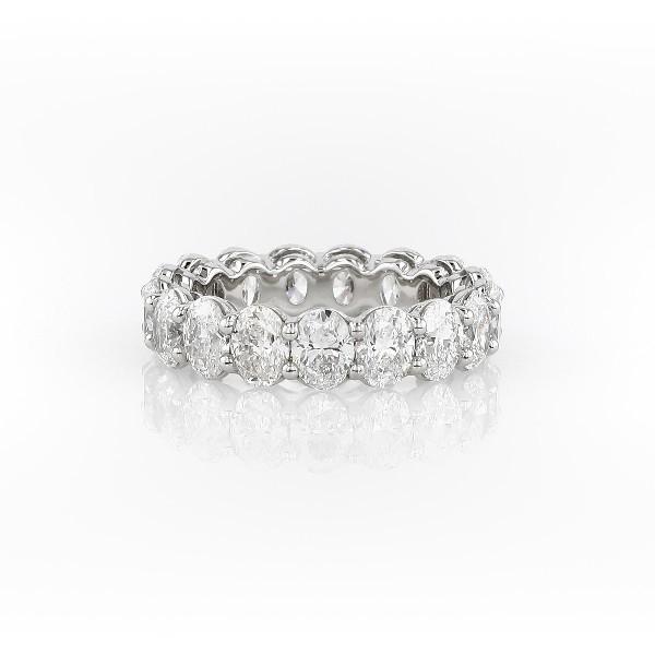 Oval Cut Diamond Eternity Ring in Platinum (5.0 ct. tw.)