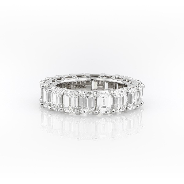 Emerald Cut Diamond Eternity Ring in Platinum (7.0 ct. tw.)