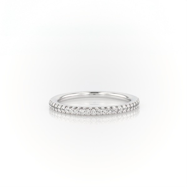 Pavé Wedding Band in 14K White Gold (0.15 ct. tw.)