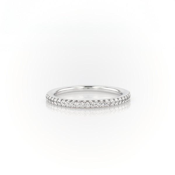 14k 白金密釘鑽石結婚戒指(1/6 克拉總重量)