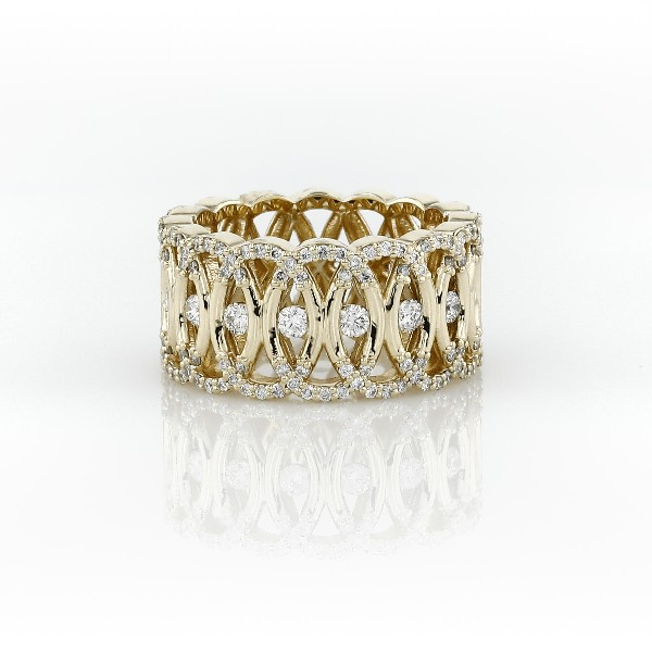 Bella Vaughan Woven Lace Diamond Eternity Ring in 18k Yellow Gold (1 ct. tw.)
