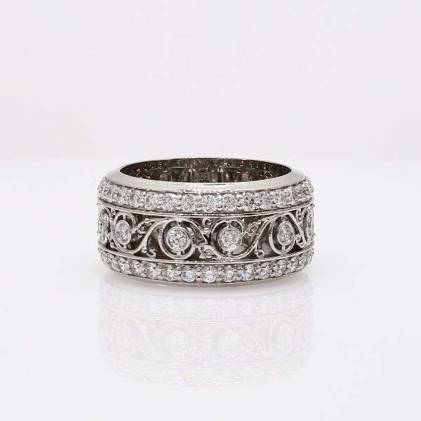 Bella Vaughan for Blue Nile Lace Diamond Eternity Ring in 18k White Gold