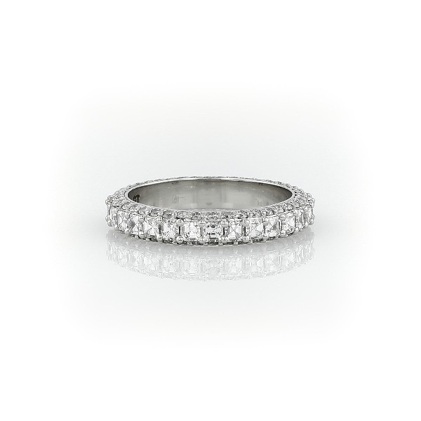 Bella Vaughan for Blue Nile Grandeur Asscher-Cut Diamond Ring in Platinum