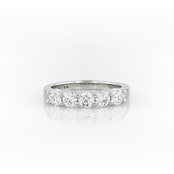 Blue Nile Signature Five Stone Diamond Ring in Platinum (0.95 ct. tw.)