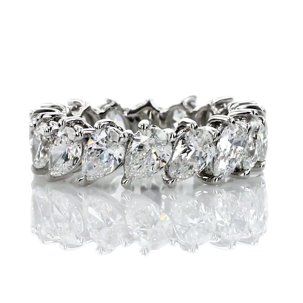 Pear Diamond Eternity Ring in Platinum - H/SI1 (4.95 ct. tw.)