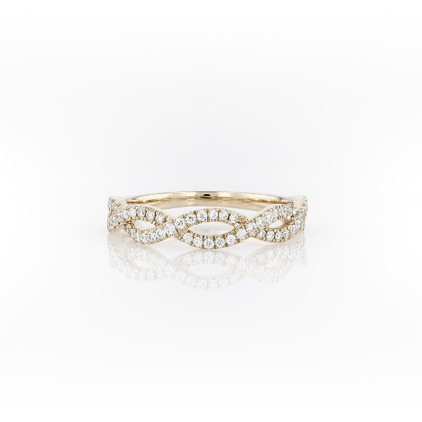 Colin Cowie Eternal Twist Diamond Ring in 14k Yellow Gold (1/4 ct. tw.)