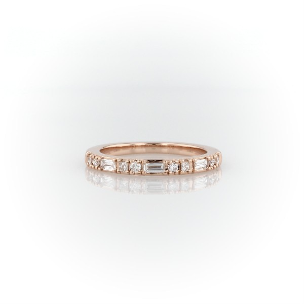 Dot Dash Diamond Ring in 14k Rose Gold (1/4 ct. tw.)