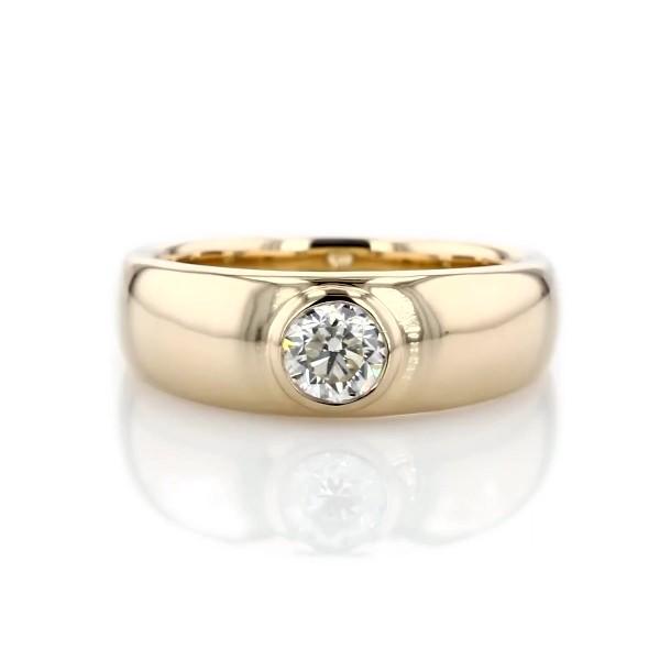 14k 黃金ZAC Zac Posen 圓形單鑽戒指(3/4 克拉總重量)