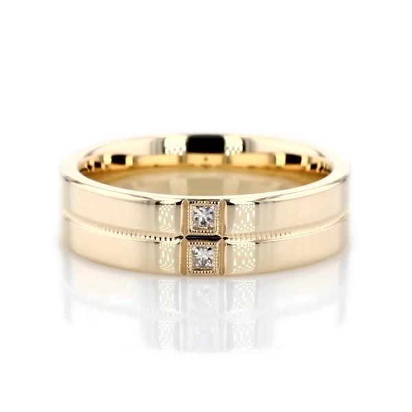 ZAC Zac Posen Double Princess Cut Diamond Band with Milgrain in 14k Yellow Gold (1/10 ct. tw.)