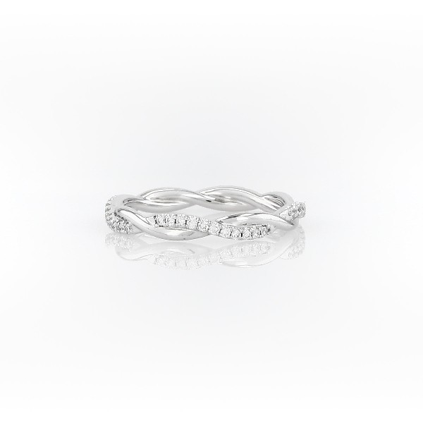 Petite Twist Diamond Eternity Ring in 14k White Gold (0.19 ct. tw.)