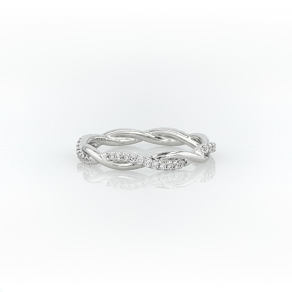 Petite Twist Diamond Eternity Ring in Platinum (1/5 ct. tw.)