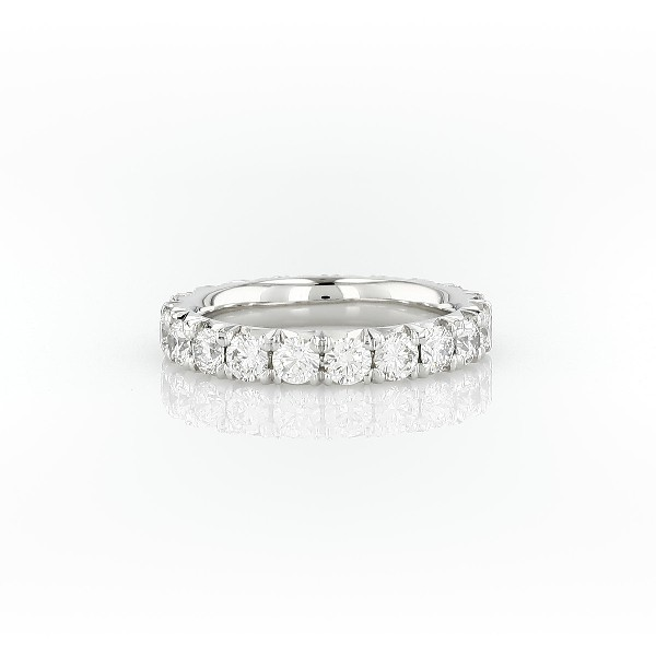 French Pavé Diamond Eternity Ring in Platinum (1.95 ct. tw.)