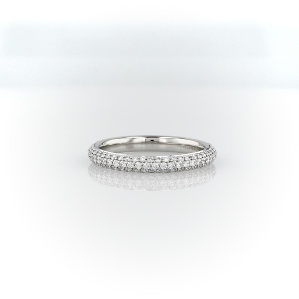 The Gallery Collection™ Rolled Pave Diamond Eternity Ring in Platinum (5/8 ct. tw.)