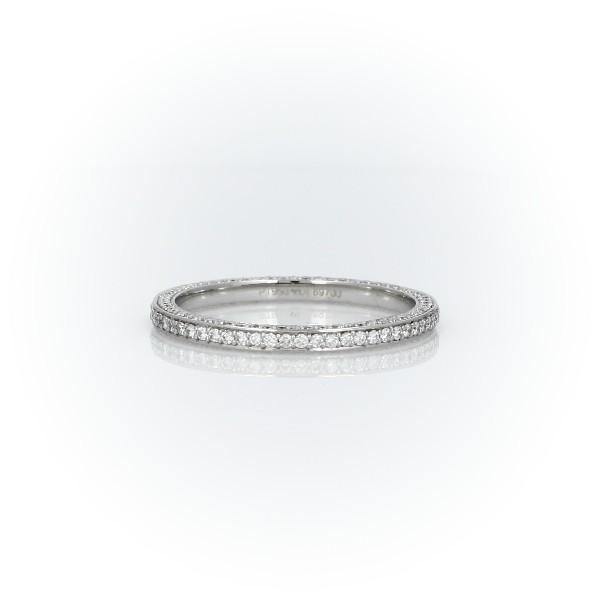 鉑金The Gallery Collection™ 三重微密鑲鑽石永恆戒指(5/8 克拉總重量)