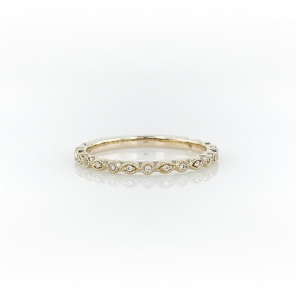 Blue Nile Petite Diamond Dot Ring in 14k White Gold xbJVD
