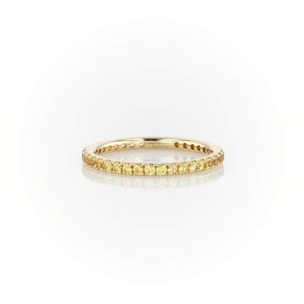 Riviera Pavé Yellow Shire Eternity Ring In 18k Gold 1 5mm