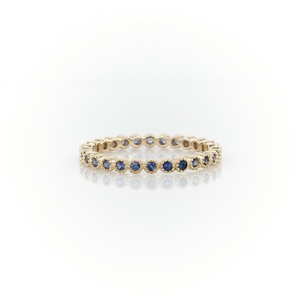 Sapphire Eternity Ring in 14k Yellow Gold (1.3mm)