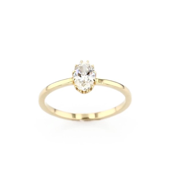 Platt Boutique Jewelry 'Heirloom' Prong-Set Diamond Engagement Ring in 18k Yellow Gold