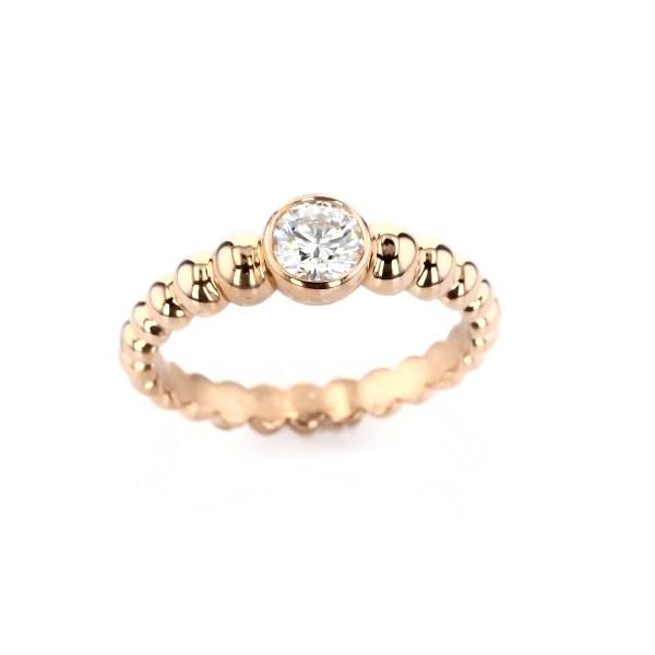 Lola Fenhirst 'The Union' Bezel-Set Diamond Engagement Ring in 18k Rose Gold