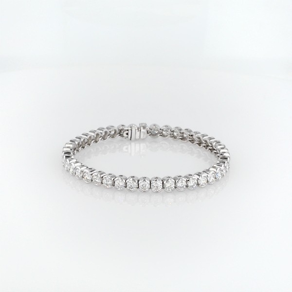 Diamond Open Bezel Line Bracelet in 18k White Gold (8 ct. tw.)